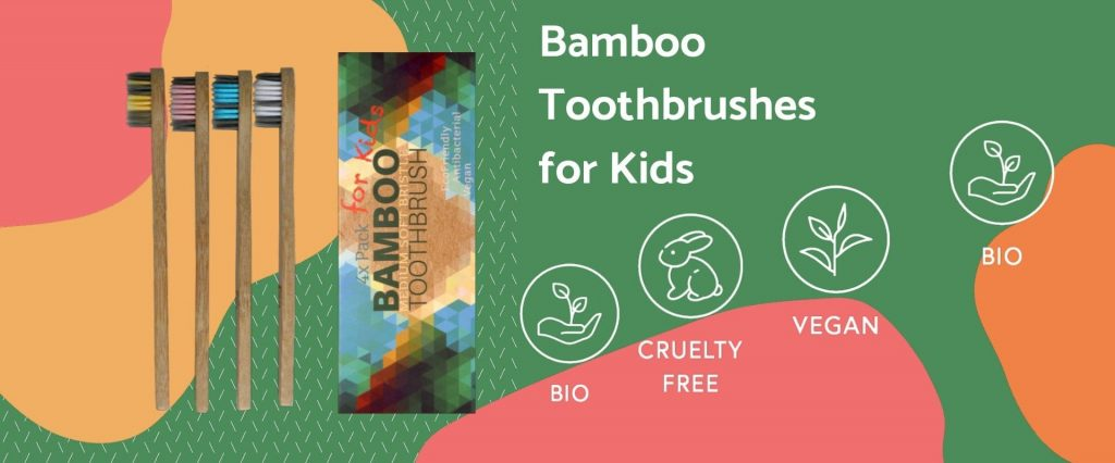 kids bamboo toothbrushes bio